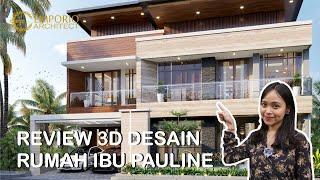Video Desain Rumah Modern 3 Lantai Ibu Pauline di  Bandung, Jawa Barat