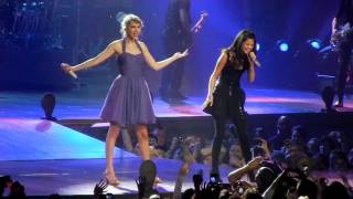 "Taylor Swift and Selena Gomez sing ""Who Says"""