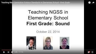 Teaching Next Generation Science Standards In Elementary School—First Grade