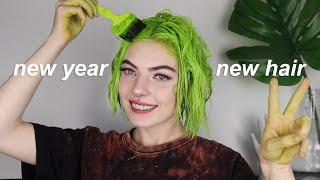 Im Dyeing My Hair BRIGHT Green
