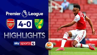 SUBSCRIBE ► http://bit.ly/SSFootballSub PREMIER LEAGUE HIGHLIGHTS ► http://bit.ly/SkySportsPLHighlights Highlights from the Premier League where goals from Pierre-Emerick Aubameyang, Granit Xhaka and Cedric Soares led Arsenal to a convincing victory against bottom-placed Norwich.  Watch Premier League LIVE on Sky Sports here ► http://bit.ly/WatchSkyPL ►TWITTER: https://twitter.com/skysportsfootball ►FACEBOOK: http://www.facebook.com/skysports ►WEBSITE: http://www.skysports.com/football  MORE FROM SKY SPORTS ON YOUTUBE: ►SKY SPORTS CRICKET: https://bit.ly/SubscribeSkyCricket ►SKY SPORTS BOXING: http://bit.ly/SSBoxingSub ►SOCCER AM: http://bit.ly/SoccerAMSub ►SKY SPORTS F1: http://bit.ly/SubscribeSkyF1