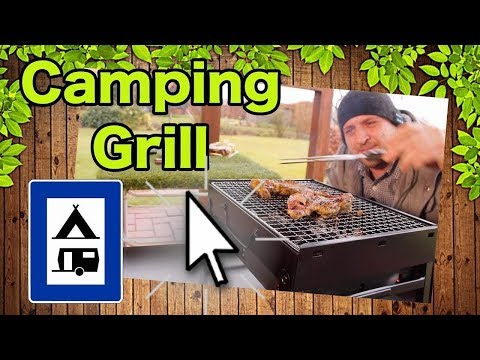 🔴HOLZKOHLE GRILL TRAGBAR CAMPING BBQ KLEIN TEST DEUTSCH REVIEW