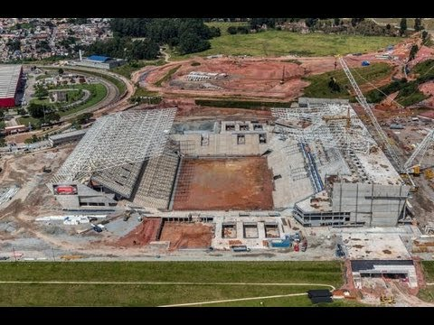 A retrospectiva de 02 anos de obras da Arena Corinthians