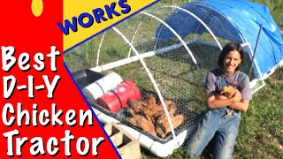 Best PVC Pipe Chicken Tractor For Pastured Poultry - Part 1 (EP-36)