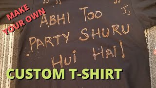 How To DIY Custom T-Shirt Using Bleach Pen