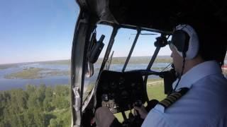 Ми-8 взлет из кабины, взлет глазами пилотов!