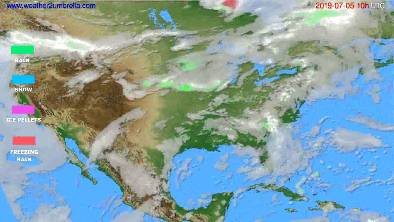 Precipitation forecast USA & Canada // modelrun: 12h UTC 2019-07-02