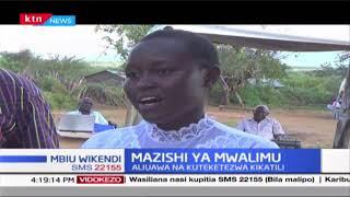 Hali ya simanzi yatanda kijini Makuka wakati wa mazishi wa mwalimu Daisy Mbaluka aliyeuawa kikatili