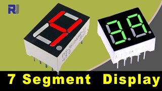 How to use LED seven segment display and calculate it's resistors value