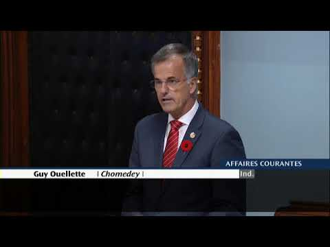L'allocution du député Guy Ouellette devant l'Assemblée nationale