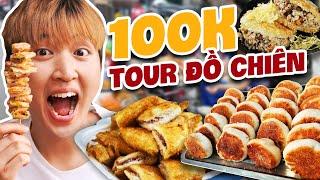 100k Ăn Toàn Món Chiên Ngon Bá Cháy | Bánh Hẹ Chiên Hot Nhất Sài Gòn | ĂN HÀNG 100K