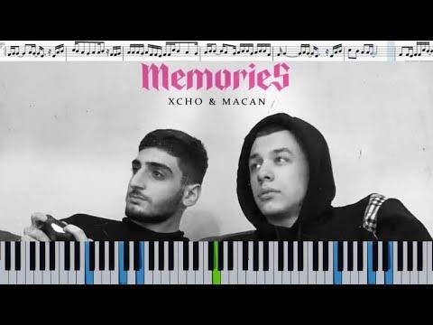 Xcho & MACAN - Memories (кавер на пианино + ноты)