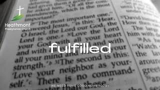 Fulfilled. Mark 14:47-52