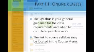 Part 3A: Online Classes: What Do They Look Like