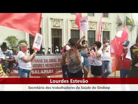Lourdes Estevao no ato do Dia Nacional de Luta contra PEC 32