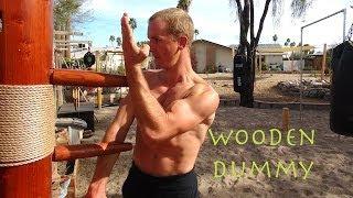 """Wing Chun WOODEN DUMMY Training   The New """"IP MAN""""   Mook Yan Jong   Mu Ren Zhuang"""