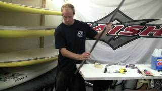 Stand Up Paddle Board Instruction:  Lesson 12 - Cut Paddle/Glue Handle