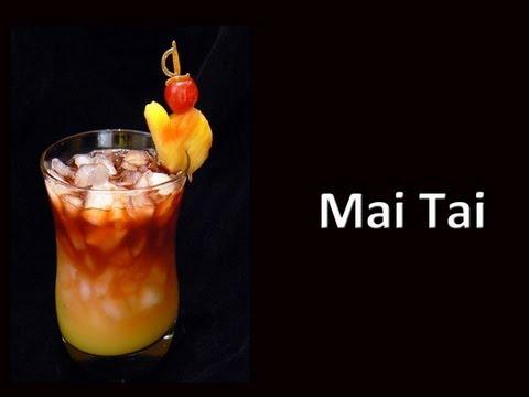 Video Mai Tai Cocktail Drink Recipe