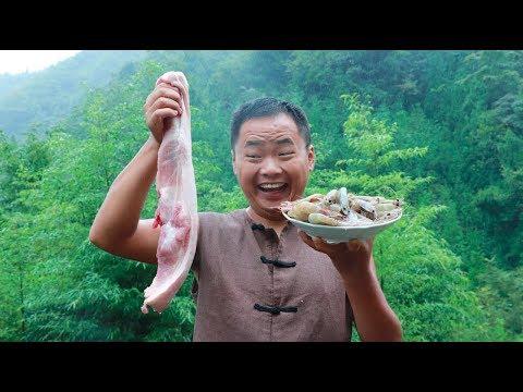 【山藥村二牛】2斤豬肉一斤蝦,做一家常麻辣香鍋,味道好極了