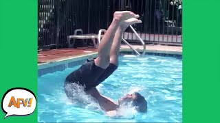 Just a Bunch of POOL FOOLS! 😅 | Funniest Water Fails | AFV 2021