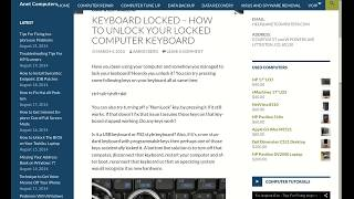 Keyboard Locked - How to Unlock Your Locked Computer Keyboard