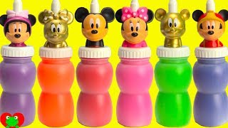 Opening GOLD Mickey And Minnie Mouse Slime Surprises