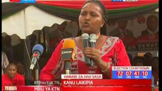 KANU Aspirant Naisula Lesuuda praises President Uhuru as he seats with established leaders in the G7