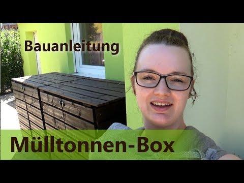 Mülltonnen-Box selber bauern | Mülltonnen-Häuschen | Mülltonnen-Unterstand