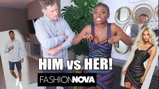 HIM VS HER FASHIONOVA EDITION! WHO WON??