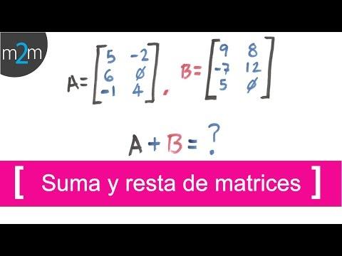 ✅ Como SUMAR y RESTAR matrices