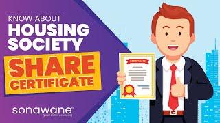 Importance of Housing Society Share Certificate | Sonawane