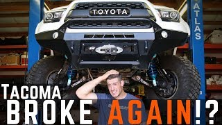 "Toyota Tacoma BROKE AGAIN! | Steering Rack Install the ""EASY WAY"""