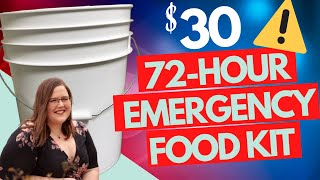 🚨 How To Make A $30 72-hour EMERGENCY FOOD Preparedness Kit!  Every Home Needs This!