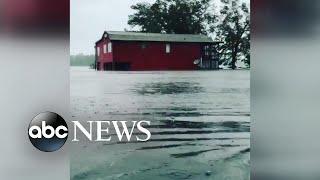 Hurricane Florence causes waist-deep flooding in North Carolina
