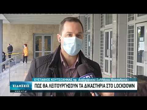 """Πως θα λειτουργήσουν τα δικαστήρια στο""""lockdown""""   09/11/2020   ΕΡΤ"""