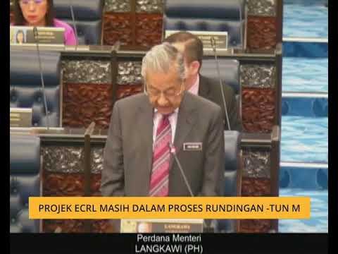 Projek ECRL masih dalam proses rundingan - Tun M