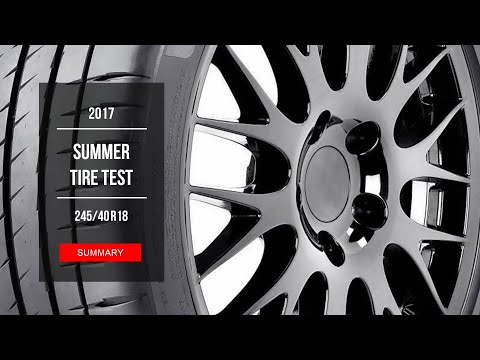 2017 Summer Tire Test Results | 245/40 R18