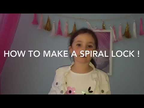 HOW TO MAKE A SPIRAL LOCK FOR DREADLOCKS-