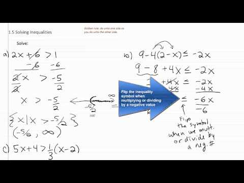 Solving Inequalities p1