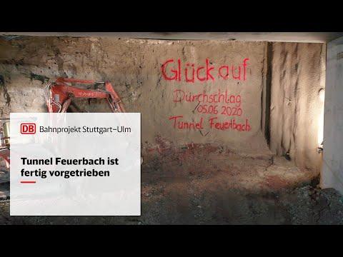 Tunnel Feuerbach ist fertig vorgetrieben