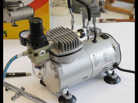 Airbrush TV 57: Createx (Werther) TC 20C Kompressor im Test / Review