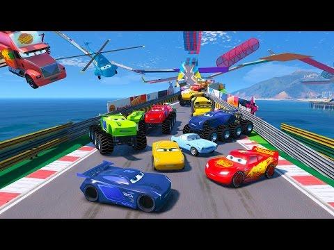 Cars 3 Colors Jackson Storm Lightning McQueen Monster 8X8 Cruz Ramirez Truck Mack Tow Mater Dinoco