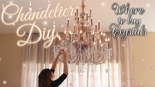 DIY Crystal Chandelier - Baroque Inspired House