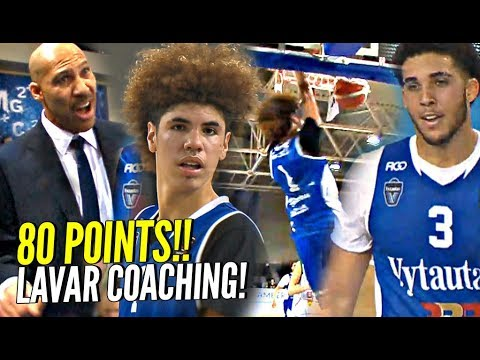 LaMelo Ball 43 Points In LaVar COACHING Debut! Gelo 37 Points! Melo's BEST Dunk Yet!