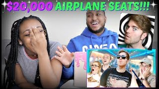 "Shane Dawson ""$20,000 FIRST CLASS AIRPLANE SEATS"" REACTION!!!"