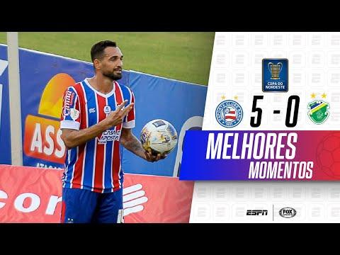 GILBERTO DESTRUIU E MARCOU 4! Melhores momentos de Bahia 5 x 0 Altos na Copa do Nordeste
