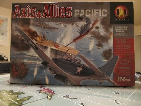 Axis & Allies Pacific - December 7th 1941 game Set Up video