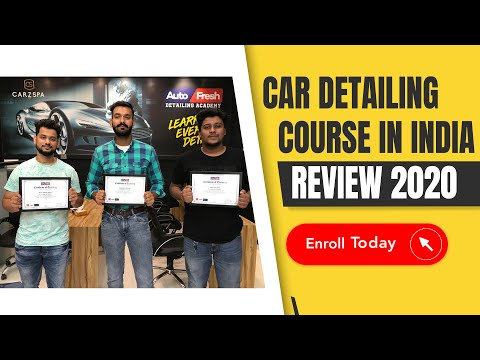 Sept'20 Batch | Car Detailing Training in India | Car Detailing Course ...