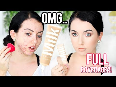 NEW! MILK MAKEUP BLUR LIQUID MATTE FOUNDATION {First Impression Review & Demo} Acne/Oily Skin
