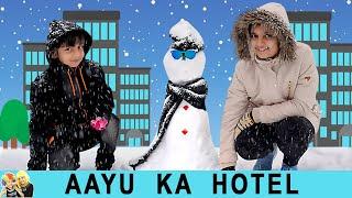 AAYU KA HOTEL   #Funny Types of people in hotel   Aayu and Pihu Show